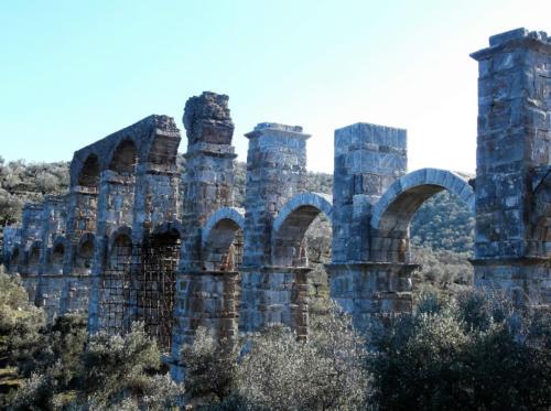 Roman aqueduct in Moria