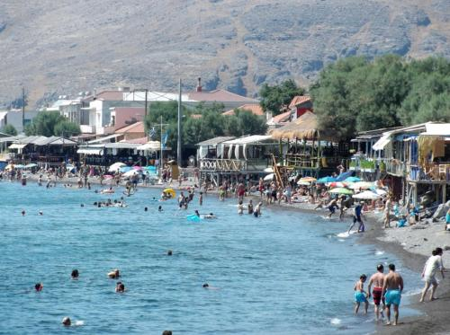 Beach front of Skala Eressos