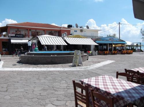 Central square in Skala Kalloni